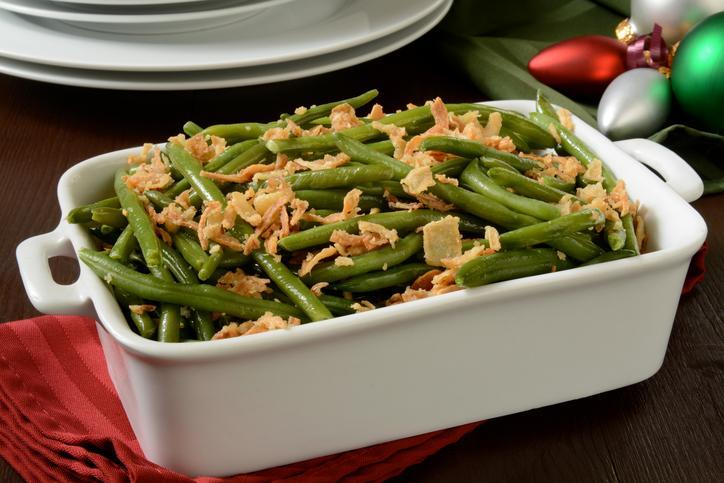 <p>This is another holiday classic. While the traditional casserole is laden with high sodium and condensed soup, it doesn't have to be that way. You can easily make this side dish more diet-friendly in a few simple steps. The first one being: put down the canned goods and opt for healthier substitutes like Greek yogurt. This side dish will compliment your eggplant parmesan perfectly. </p>
