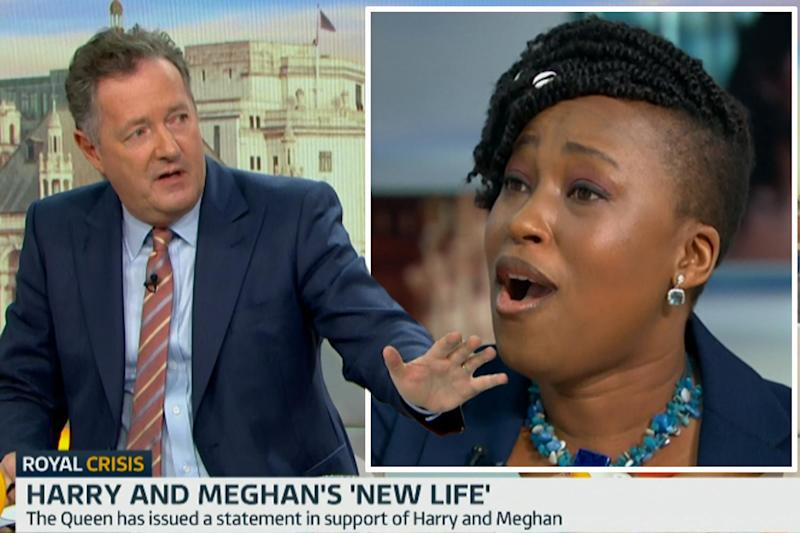 GMB clash: Dr Mos-Shogbamimu hit back at the presenter's criticism of Harry and Meghan