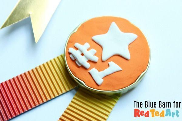 """<p>Your kids can make their dad a medal of his own with the help of some molding clay, a jar lid, and colored paper. </p><p><strong><em>Get the tutorial at <a href=""""https://www.redtedart.com/jar-lid-medals-for-fathers-day/"""" rel=""""nofollow noopener"""" target=""""_blank"""" data-ylk=""""slk:Red Ted Art"""" class=""""link rapid-noclick-resp"""">Red Ted Art</a>. </em></strong></p><p><a class=""""link rapid-noclick-resp"""" href=""""https://www.amazon.com/Creative-Kids-Modeling-Crafts-Children/dp/B07LC1581D?tag=syn-yahoo-20&ascsubtag=%5Bartid%7C10070.g.2461%5Bsrc%7Cyahoo-us"""" rel=""""nofollow noopener"""" target=""""_blank"""" data-ylk=""""slk:SHOP AIR DRY CLAY"""">SHOP AIR DRY CLAY</a></p>"""