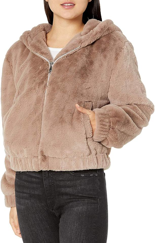 "<p>This <a href=""https://www.popsugar.com/buy/Drop-Sloane-Faux-Fur-Zip--Front-Hooded-Bomber-Jacket-508966?p_name=The%20Drop%20Sloane%20Faux-Fur%20Zip%20-Front%20Hooded%20Bomber%20Jacket&retailer=amazon.com&pid=508966&price=100&evar1=fab%3Aus&evar9=46828287&evar98=https%3A%2F%2Fwww.popsugar.com%2Fphoto-gallery%2F46828287%2Fimage%2F46828648%2FDrop-Sloane-Faux-Fur-Zip--Front-Hooded-Bomber-Jacket&list1=shopping%2Cfall%20fashion%2Camazon%2Cwinter%20fashion&prop13=api&pdata=1"" rel=""nofollow"" data-shoppable-link=""1"" target=""_blank"" class=""ga-track"" data-ga-category=""Related"" data-ga-label=""https://www.amazon.com/Drop-Womens-Sloane-Hooded-Bomber/dp/B07W12P8GP/ref=sr_1_26?dchild=1&amp;psc=1&amp;qid=1572455363&amp;s=apparel&amp;sr=1-26"" data-ga-action=""In-Line Links"">The Drop Sloane Faux-Fur Zip -Front Hooded Bomber Jacket</a> ($100) is incredibly soft.</p>"