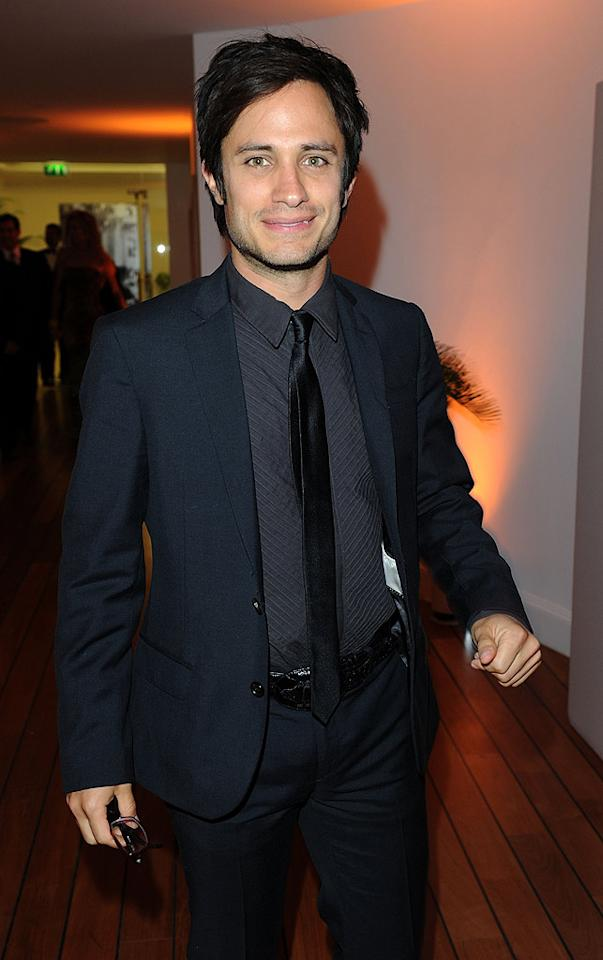 "Gael Garcia Bernal, who will present the Camera d'or prize at this year's festival, spent most of the evening hanging out with his friend and former ""Y Tu Mama Tambien"" co-star, Diego Luna. Venturelli/VF1/<a href=""http://www.wireimage.com"" target=""new"">WireImage.com</a> - May 15, 2010"