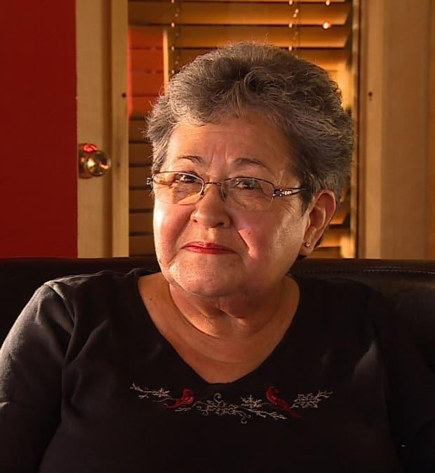Adeline Webber, president of the Whitehorse Aboriginal Women's Circle, says the grounds of the Choutla residential school in Carcross should be searched for unmarked graves. Her brother, Alberta Jackson, died at the school. (Wayne Vallevand/CBC - image credit)