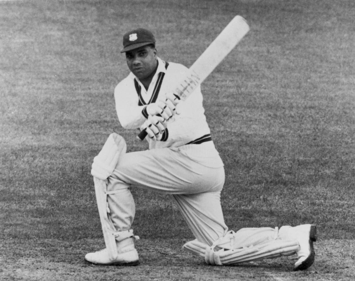 circa 1955:  West Indies cricketer Clyde Walcott.  (Photo by Hulton Archive/Getty Images)