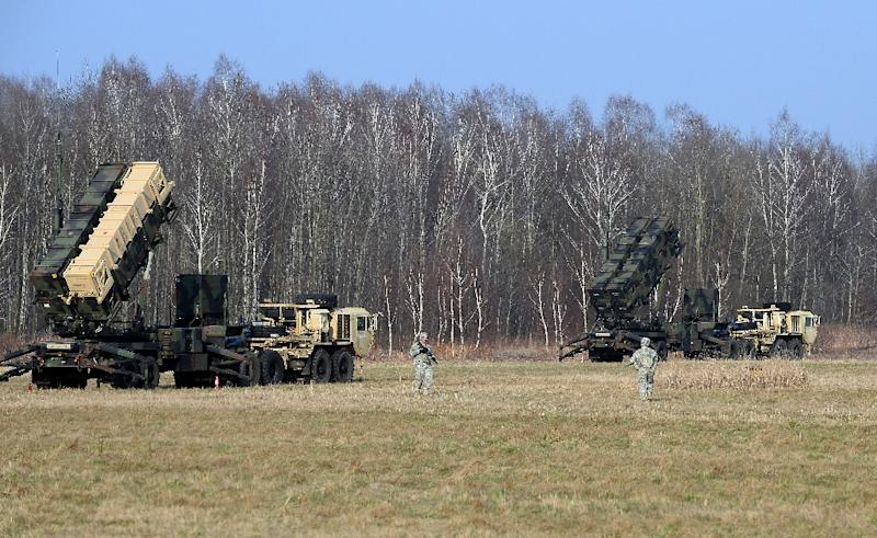 Patriot missiles seen during an exercise in Poland in 2015