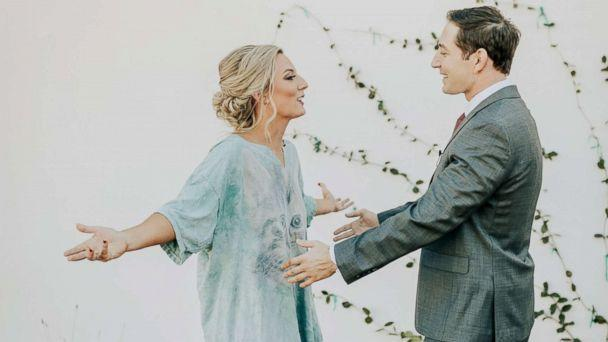 PHOTO: The happy couple said it helped break the ice for the big day. (Molly McElenney Photography)
