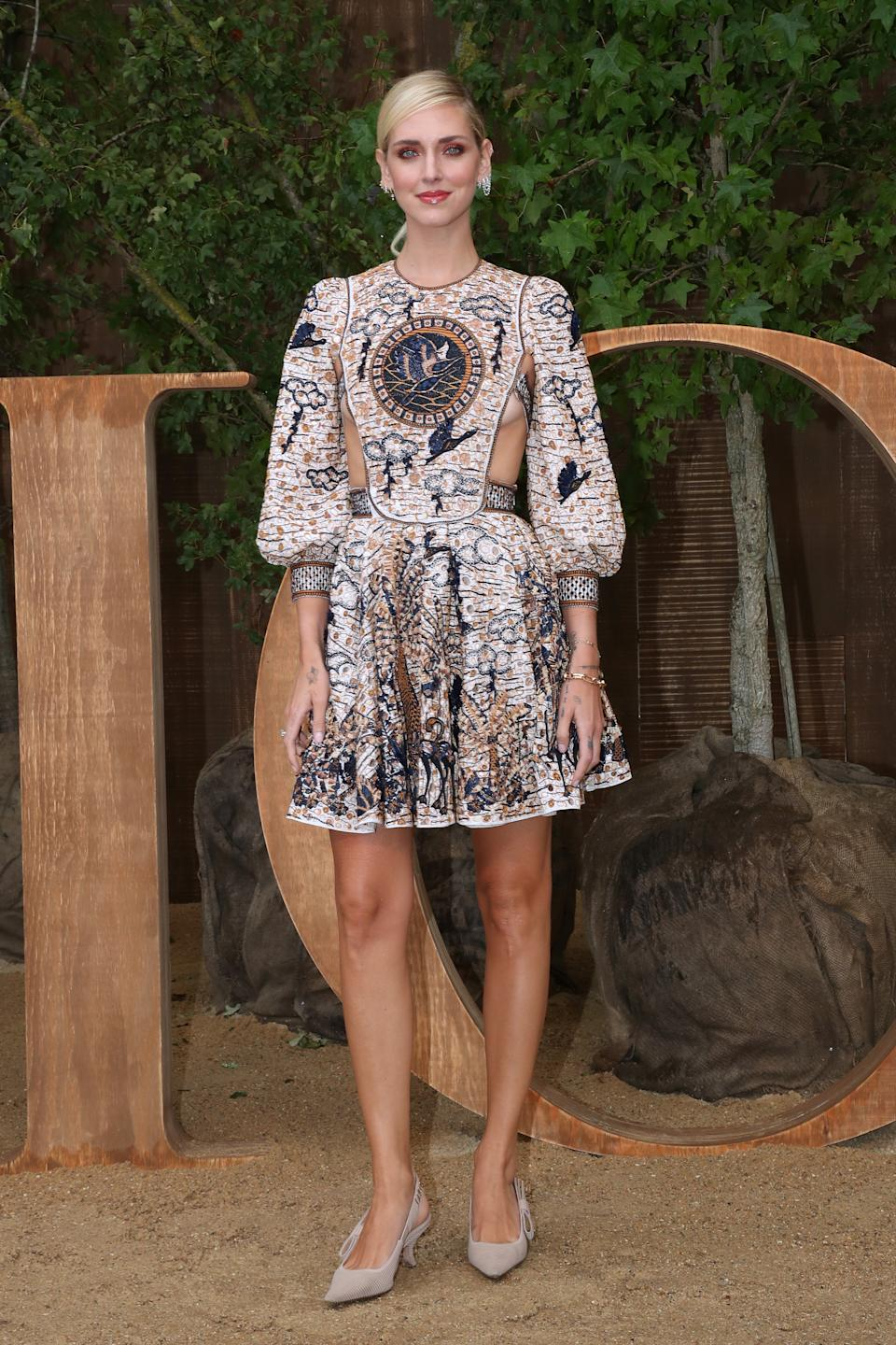 PARIS, FRANCE - SEPTEMBER 24: Chiara Ferragni attends the Christian Dior Womenswear Spring/Summer 2020 show as part of Paris Fashion Week on September 24, 2019 in Paris, France. (Photo by Bertrand Rindoff Petroff/Getty Images)