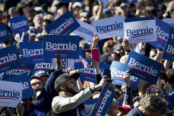 PHOTO: Supporters arrive to attend the Bernies Back rally in Queens, NY, on Oct.19, 2019. (Bastiaan Slabbers/NurPhoto/ZUMA Press via Newscom)