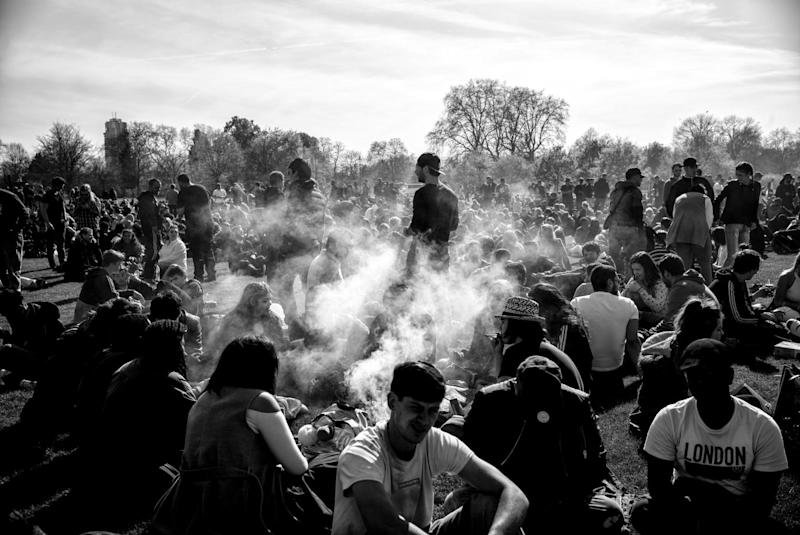 A photo from last year's 420 celebration in Hyde Park (Photo: Alan Schaller/The Independent)