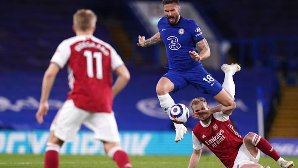 Giroud contro l'Arsenal | Pool/Getty Images