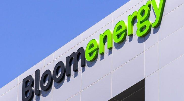 Bloom Energy logo at their headquarters in Silicon Valley