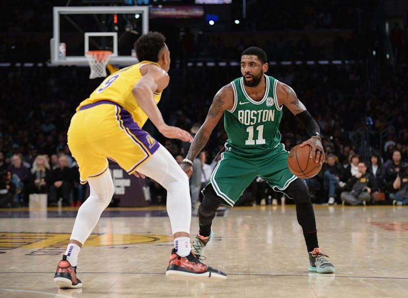 9f8ae787725 Celtics  Kyrie Irving makes young fan s day by gifting game-worn shoes