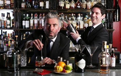 Ben McFarland and Tom Sandham mixing up their alcoholic concotions - Credit: Clara Molden
