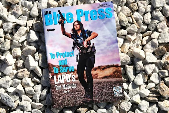 "LAPD Officer Toni McBride has faced scrutiny after she fatally shot a man April 22. The discussion partly involves her status as a gun-toting model and her father's position with the Police Protective League. <span class=""copyright"">(Dillon Precision Products)</span>"