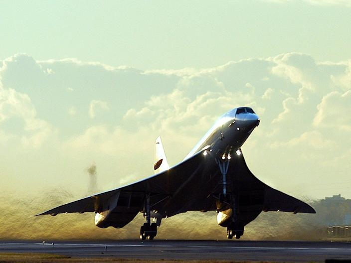 A British Airways Concorde.
