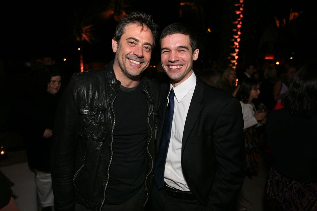 "Jeffrey Dean Morgan and Steven Strait attend the ""<a target=""_blank"" href=""http://tv.yahoo.com/magic-city/show/46996"">Magic City</a>"" premiere at Colony Theater on March 4, 2012 in Miami Beach, Florida."