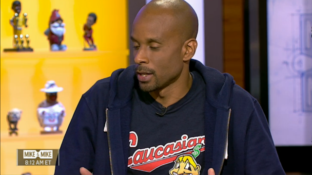 The ESPN employee upset some folks with his outerwear Thursday.
