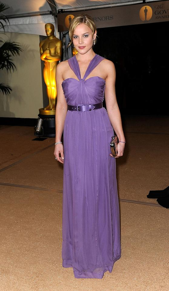 """<a href=""""http://movies.yahoo.com/movie/contributor/1804856742"""">Abbie Cornish</a> at the Academy of Motion Picture Arts and Sciences' Inaugural Governors Awards - 11/14/2009"""