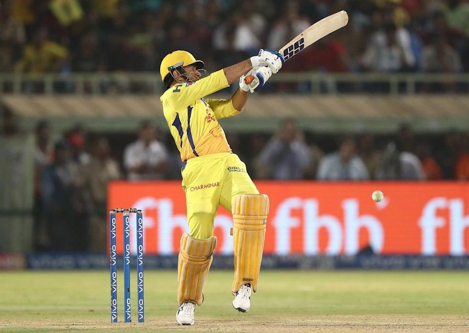 MS Dhoni batting for the Chennai Super Kings (Getty Images)