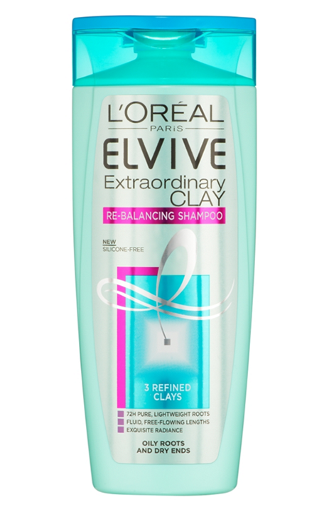 "<p><a class=""link rapid-noclick-resp"" href=""https://www.feelunique.com/p/LOreal-Elvive-Extraordinary-Clay-Shampoo-400ml"" rel=""nofollow noopener"" target=""_blank"" data-ylk=""slk:Shop now"">Shop now</a> Feelunique.com, £4.49<br></p><p><strong>Grease-busting strength: 6/10</strong><br></p><p>Just like a clay face mask draws excess oil out of the pores on your complexion, this clay-enriched range helps to eliminate excess oil on the scalp. Clever, huh?</p><p>L'Oreal used three 'refined clays' in a pre-shampoo scalp treatment, which is then followed by this shampoo, and finally a hydrating conditioner. The shampoo is gentle enough to use on a regular basis and will cleanse oil effectively. Amp it up by teaming with the <a href=""http://www.loreal-paris.co.uk/products/hair-care/hair-treatments/elvive-extraordinary-clay-pre-shampoo-masque-masque/"" rel=""nofollow noopener"" target=""_blank"" data-ylk=""slk:pre-shampoo clay treatment"" class=""link rapid-noclick-resp"">pre-shampoo clay treatment</a> once a week.</p>"