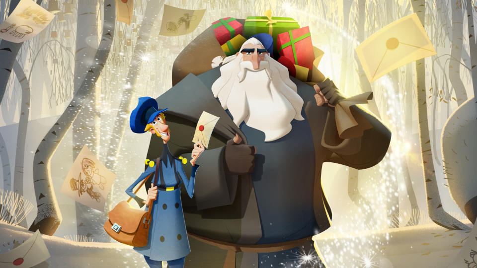 JK Simmons as a grumpy, reclusive woodsman Santa? Sold. Netflix's charming animation was nominated for Best Animated Feature at the Oscars and, but for the continued dominance of Pixar, it would have emerged victorious. (Credit: Netflix)