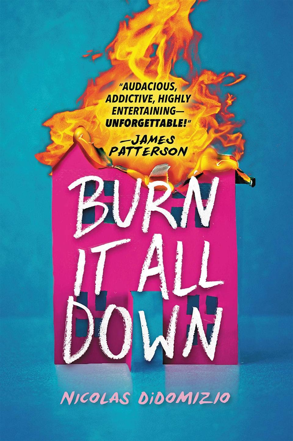 <p>Nicolas DiDomizio's <span><strong>Burn It All Down</strong></span> is a wild, delightful revenge thriller about a mother and son who both have some serious growing up to do. After 18-year-old Joey Rossi discovers his boyfriend has been cheating on him for 10 months, he's consumed by rage. Unfortunately, so is his 34-year-old mom, Gia, who is dealing with romance troubles of her own. When Gia and Joey redirect their anger into actual criminal activities, they're left with no place to turn but to Gia's ex Marco. </p> <p><em>Out May 25</em></p>