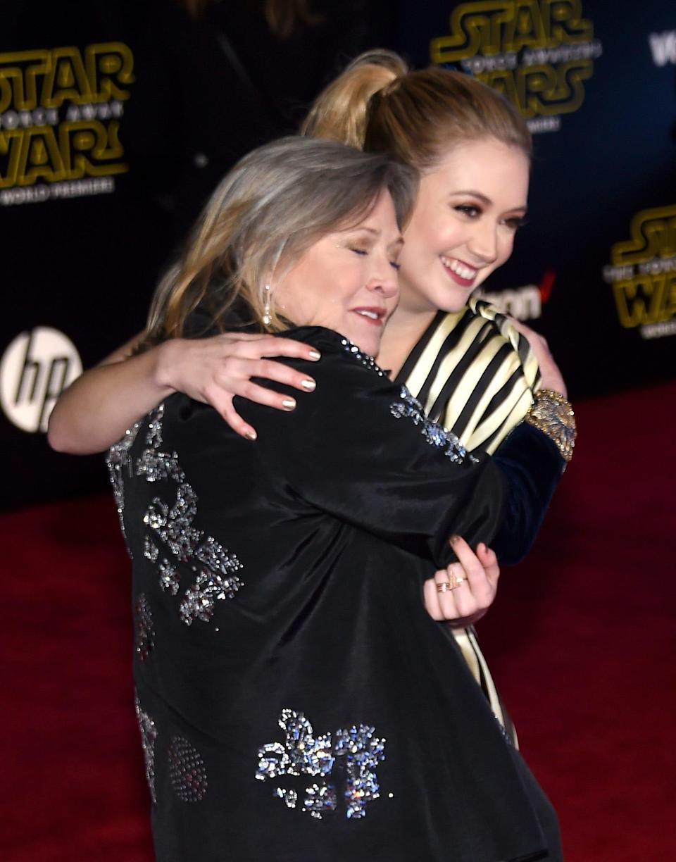 "Billie Lourd dressed her son Kingston up like Princess Leia, the character her mom played in ""Star Wars,"" in honor of Star Wars Day."