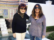 This 2016 photo shows Heather Krug, right, and her mother, Brenda Krug, at The Getty Villa in Los Angeles. The two are reuniting in person for Mother's Day this year as vaccinations have made families feel more comfortable gathering for the holiday. (Heather Krug via AP)