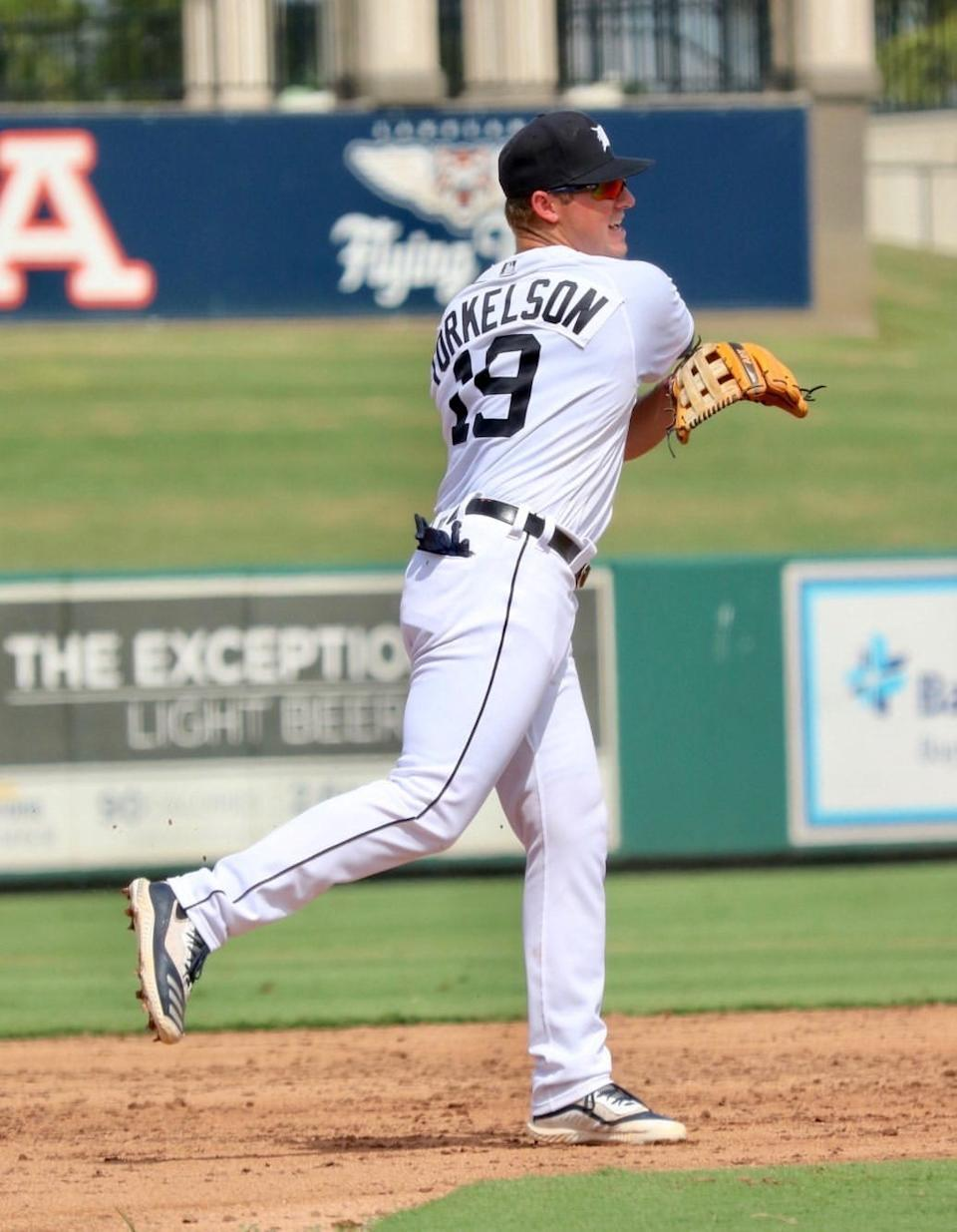 Detroit Tigers top prospect Spencer Torkelson in November 2020 while playing instructional league in Lakeland, Florida.