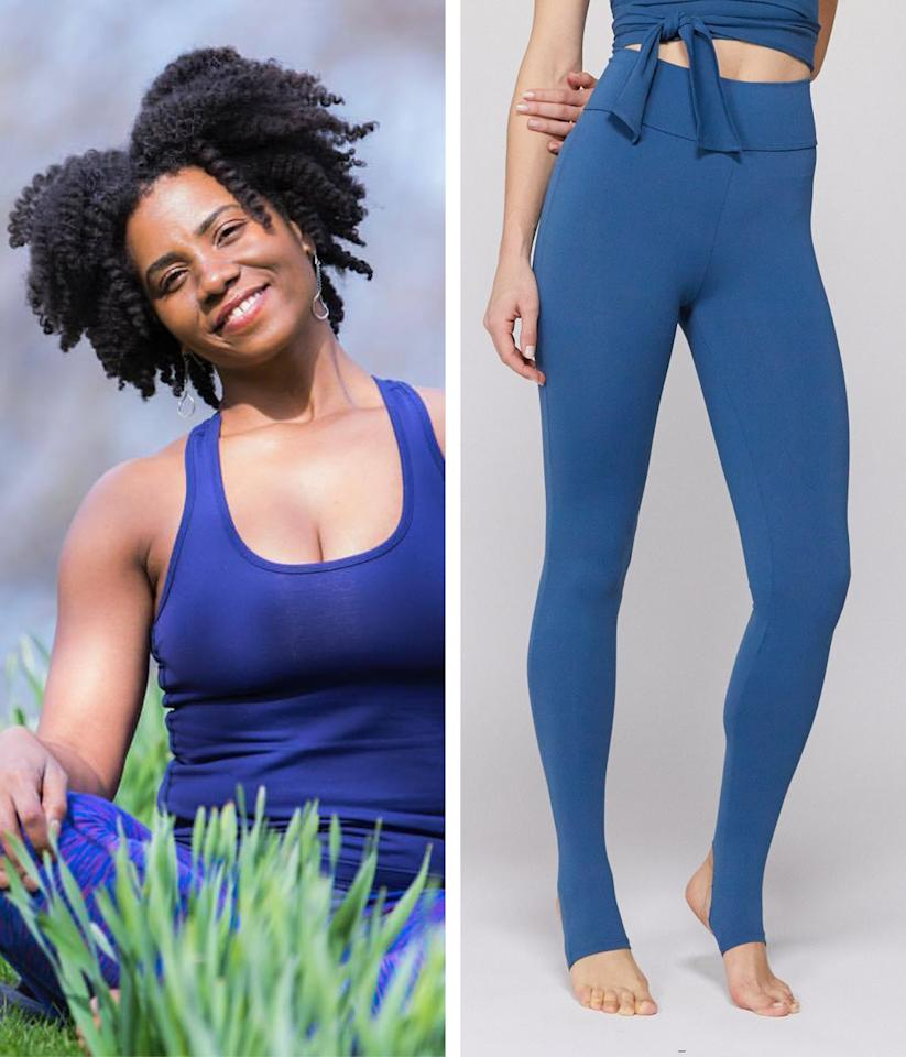 """For a legging that hugs in all the right places, <a href=""""https://www.instagram.com/cmccrearyyoga/"""" rel=""""nofollow"""" target=""""_blank"""">Crystal McCreary</a>, certified yoga teacher with a specialty in children's yoga, recommends <a href=""""https://fave.co/36R3JHf"""" rel=""""nofollow"""" target=""""_blank"""">Live the Process Ballet Leggings</a>. """"[It's] the most comfortable fabric I've found in a legging that hugs and accentuates my athletic legs and curves in all the best ways (and doesn't roll down at the waist!),"""" she says. Plus, the stirrups make these extra special: """"[They] take me back to my dancer days and are particularly cozy in winter boots and shoes."""" $128, Carbon38. <a href=""""https://www.carbon38.com/product/ballet-legging-ruby"""">Get it now!</a>"""