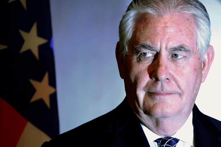 U.S. Secretary of State Rex Tillerson participates in a news conference in Abuja, Nigeria, March 12, 2018. (Photo: Jonathan Ernst/Reuters)