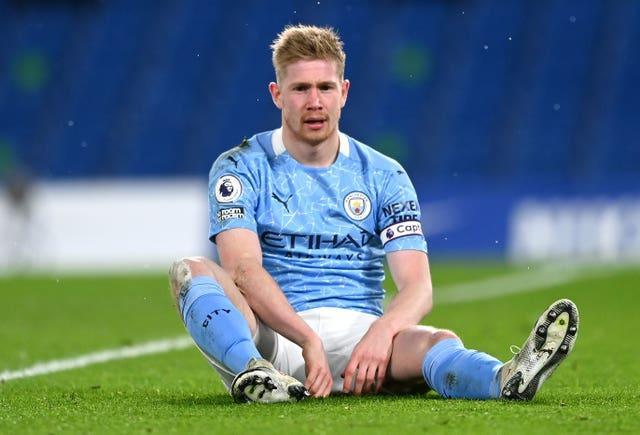 Kevin De Bruyne is out through injury
