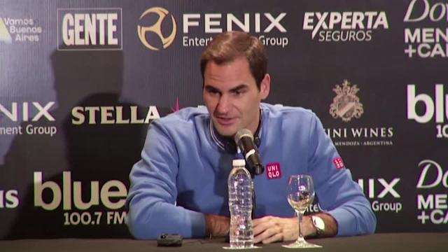 """<p>EDITORS PLEASE NOTE: EDIT CONTAINS A WHITE FLASH</p> <p>SHOWS: BUENOS AIRES, ARGENTINA (NOVEMBER 18, 2019) (REUTERS - ACCESS ALL)</p> <p>1. (SOUNDBITE) (English) 20-TIME GRAND SLAM CHAMPION, ROGER FEDERER, SAYING:</p> <p> """"I don't know the answer to be honest. As long as I'm feeling good right now and I'm really enjoying my life on the road and enjoy playing against Sascha (Zverev) and the others players on the tour I see no reason to stop. But of course with age everything get a bit more difficult, but at the same time with experience also you can savor the moments more. So I don't know how it's going to end. I hope it's just going to be somewhat emotional I guess and nice and, I don't know, I hope it's going to be good, the whole process and not too difficult.""""</p> <p>2. WHITE FLASH</p> <p>3. (SOUNDBITE) (English) 20-TIME GRAND SLAM CHAMPION, ROGER FEDERER, SAYING:</p> <p> """"The more funny thing was back in 2009 when I won the French Open and I won the four different Grand Slams and I broke the all-time Grand Slam record. Then the following month at Wimbledon when I won Wimbledon again, I won the 15th slam, that's when people already started asking me if I was going to retire soon, that was in 2009. So this is ten years ago and something - I can handle this type of question and I try to give always a good answer because I know that everybody cares and wants to know about it. But there's honestly nothing new there, at the moment I'm very happy playing on the tour.""""</p> <p>STORY: Swiss tennis star Roger Federer, ranked third in the world, said Monday (November 18) he sees 'no reason to stop,' when asked if he was considering retirement.</p> <p> The 38-year-old winner of 20 grand slam titles to date noted that he has been asked about retiring for the past ten years</p> <p> Federer is closing out the year with a series of exhibition matches against German Alexander Zverev in Latin America with the tour taking him to Argentina, Chile, Colombia, Ecuador and Mexico.</p"""