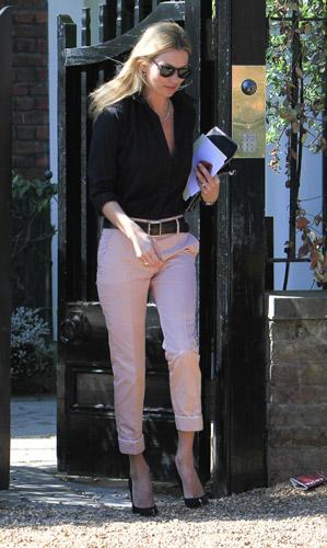 Model and newlywed Kate Moss showed off her stellar spring style on the streets of North London. (3/28/2012)
