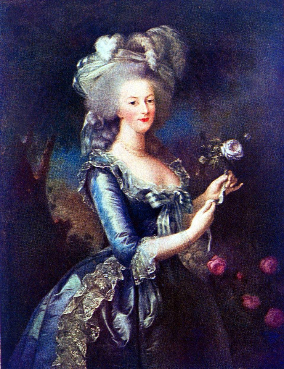 "<p>When Louis XVI married 14-year-old Marie Antoinette, he didn't even do so in person. According to <a href=""https://www.history.com/news/royal-weddings-gone-bad"" rel=""nofollow noopener"" target=""_blank"" data-ylk=""slk:History"" class=""link rapid-noclick-resp""><em>History</em></a>, the nuptials ""took place by proxy in the bride's native Vienna; her older brother Ferdinand stood in as the groom at the altar."" Not your usual royal wedding. And per History, ""In what was seen as a bad omen at the time, his wife let a large blot of ink fall onto the marriage contract, covering half her name.""</p>"