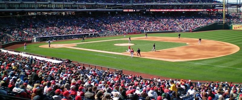 Citizens Bank Park, side view of the pitch from the stands