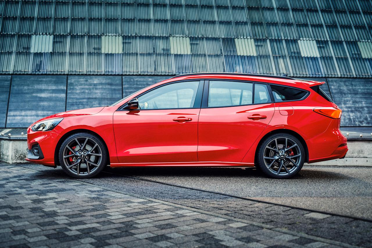 """<p>The station-wagon version of <a href=""""https://www.caranddriver.com/news/a26395665/2019-ford-focus-st-europe-photos-info/"""" target=""""_blank"""">the new Ford Focus ST</a> hot hatch has arrived, and we're in love. It sadly won't come to the U.S., as Ford has dropped all variants of <a href=""""https://www.caranddriver.com/ford/focus"""" target=""""_blank"""">the Focus compact</a> from its lineup here.</p>"""