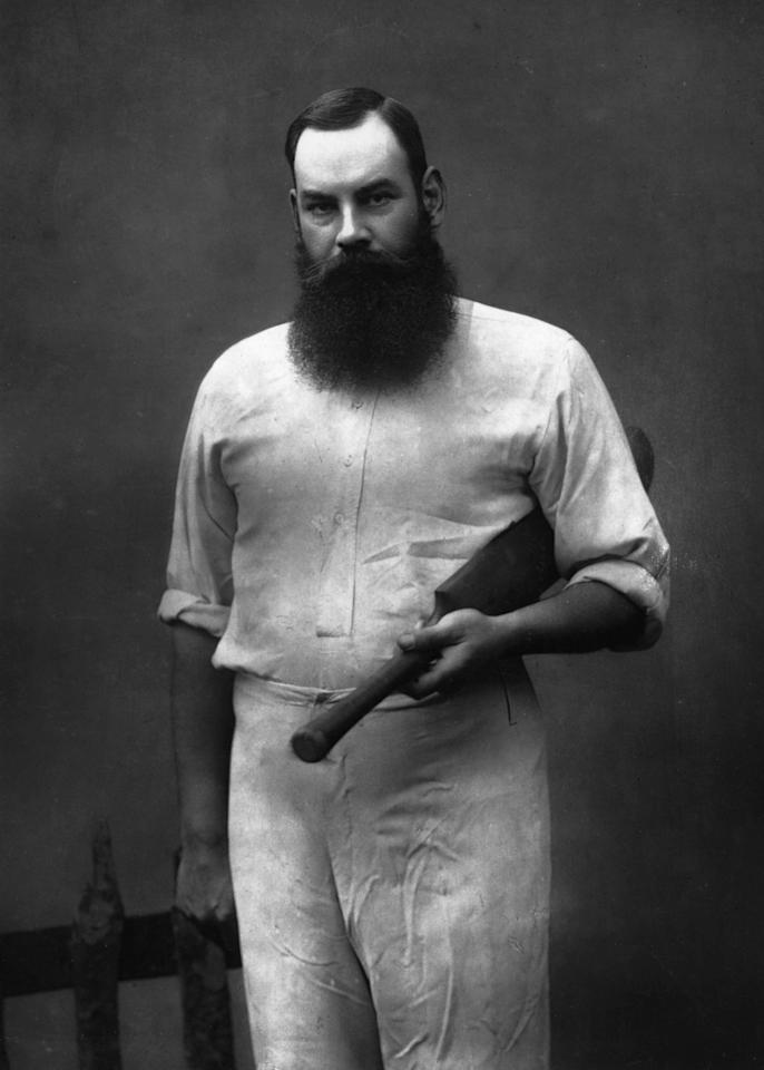 1888:  English cricketer W G Grace (William Gilbert Grace, 1848 - 1915).  (Photo by Herbert Barraud/Rischgitz/Getty Images)