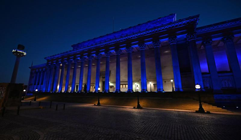 St Georges Hall and St John's Beacon in Liverpool (AFP via Getty Images)
