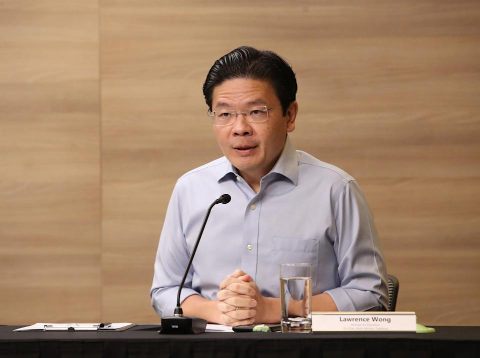 Multi-ministry taskforce co-chair Lawrence Wong.