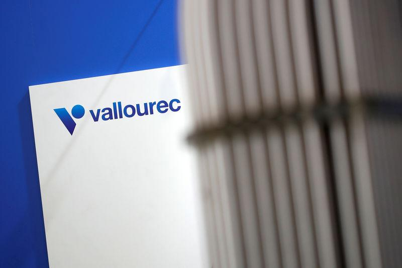 The logo of Vallourec is pictured at the World Nuclear Exhibition (WNE), the trade fair event for the global nuclear community in Villepinte near Paris