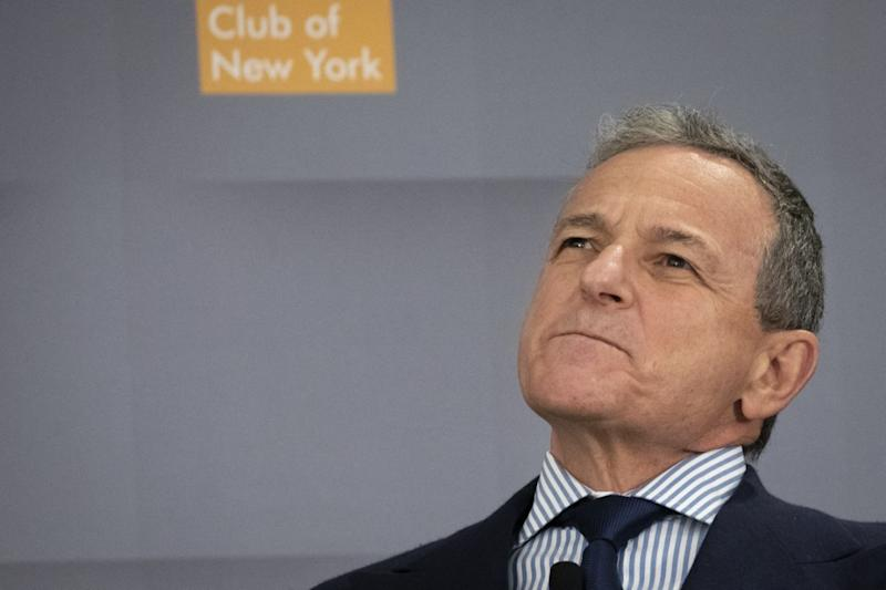 Bob Iger, presidente y director ejecutivo de The Walt Disney Company, interviene en un evento del Economic Club de Nueva York en Midtown Manhattan el 24 de octubre de 2019 en la ciudad de Nueva York (Foto de Drew Angerer / Getty Images).