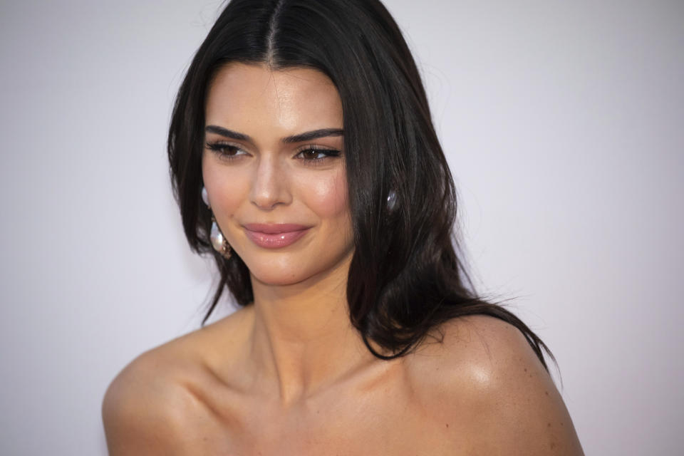 Model Kendall Jenner poses for photographers upon arrival at the amfAR, Cinema Against AIDS, benefit at the Hotel du Cap-Eden-Roc, during the 72nd international Cannes film festival, in Cap d'Antibes, southern France, Thursday, May 23, 2019. (Photo by Vianney Le Caer/Invision/AP)