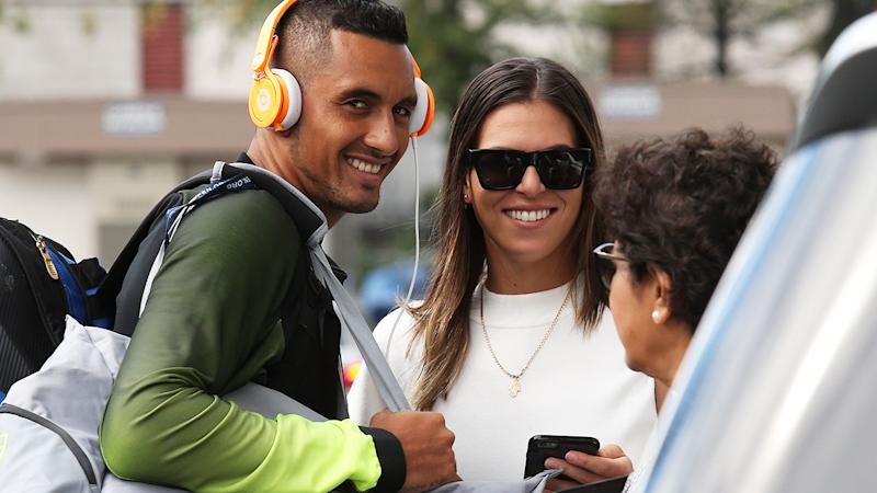 Nick Kyrgios and Ajla Tomljanovic, pictured here at the 2016 US Open.