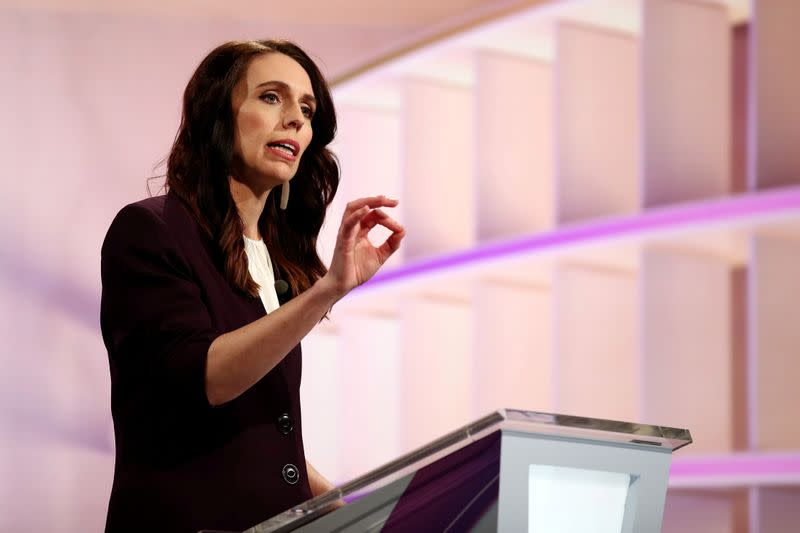 FILE PHOTO: FILE PHOTO: FILE PHOTO: New Zealand Prime Minister Ardern participates in a debate in Auckland