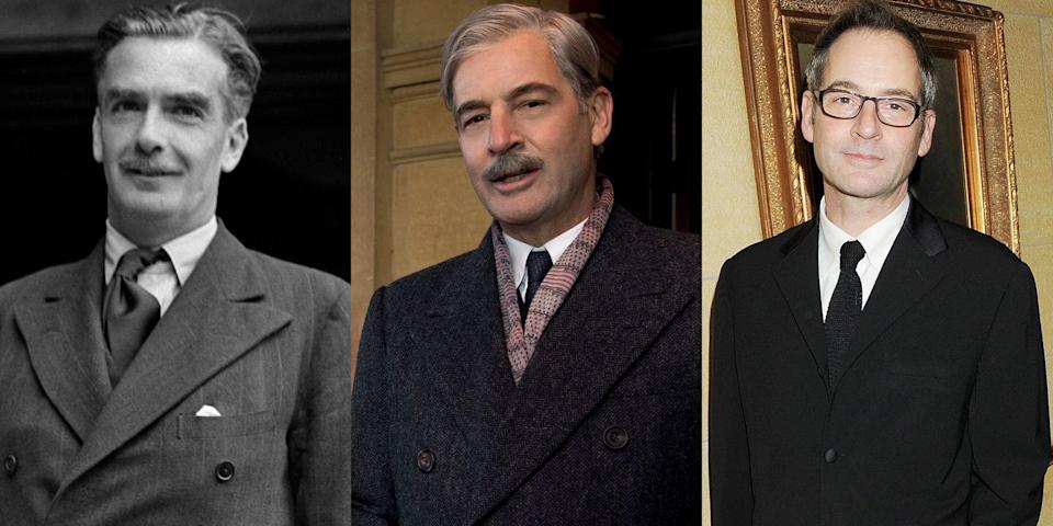 "<p>Jeremy Northam played Anthony Eden, Queen Elizabeth's first prime minister after Winston Churchill and the instigator of the Suez Crisis. You may recognize him from his roles as Thomas More in <em>The Tudors</em> and Mr. Knightley in <em><a href=""https://www.amazon.com/Emma-Gwyneth-Paltrow/dp/B007SSEZNA/?tag=syn-yahoo-20&ascsubtag=%5Bartid%7C10056.g.7996%5Bsrc%7Cyahoo-us"" rel=""nofollow noopener"" target=""_blank"" data-ylk=""slk:Emma"" class=""link rapid-noclick-resp"">Emma</a></em>.</p>"