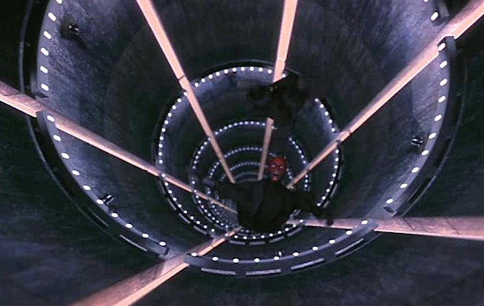 Darth Maul was sliced in two by Obi-Wan Kenobi at the end of <i>The Phantom Menace</i>. (Photo: Lucasfilm)