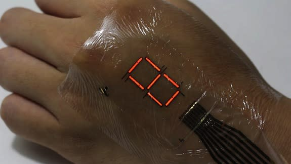 Ultrathin 'E-Skin' Turns Your Hand into an Electronic Display