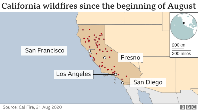 High winds could fan already enormous California wildfires