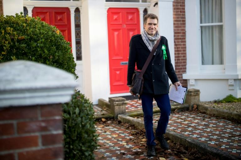 Ollie Sykes,Green Party candidate for the Hove constituency, worries about the extent to which other parties are committed to fighting climate change (AFP Photo/TOLGA AKMEN)