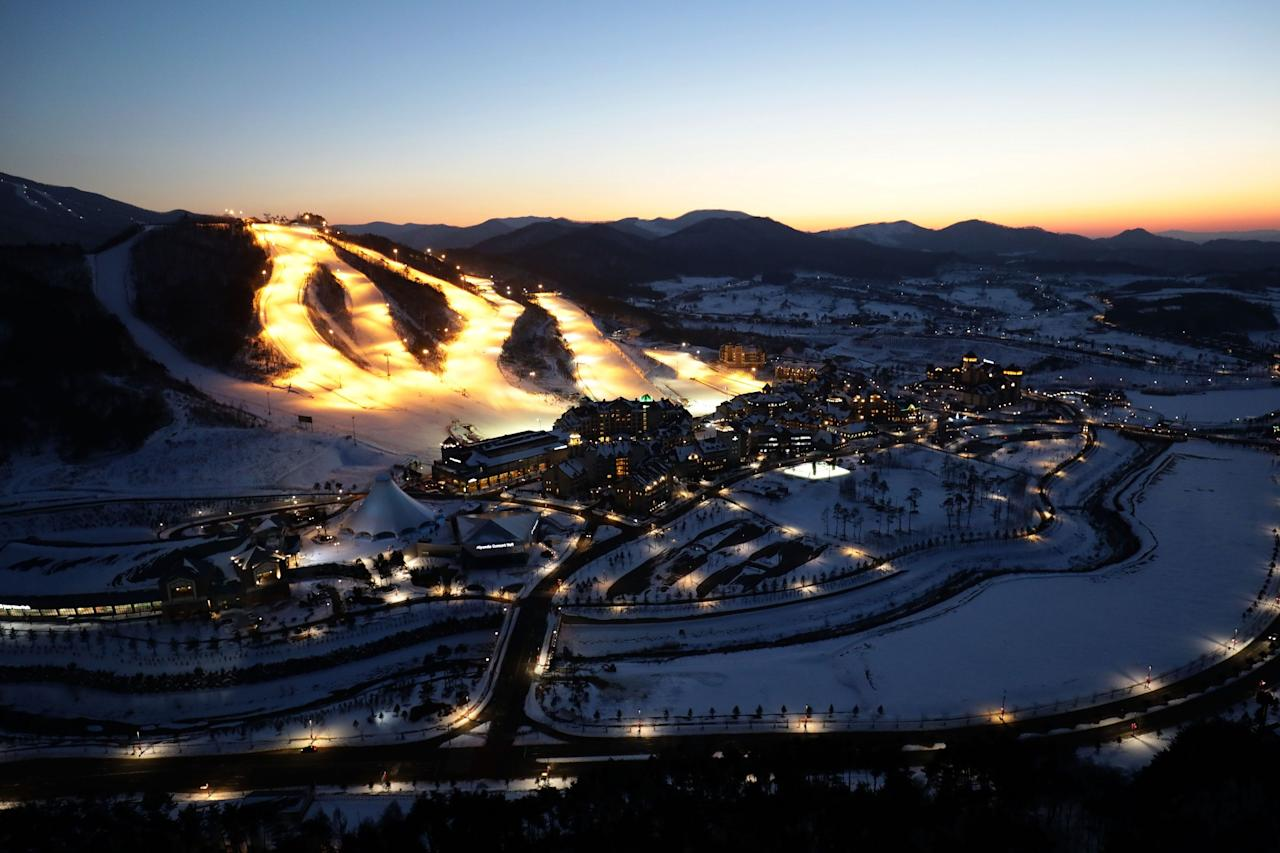 <p>The general view of Alpensia Resort Park, venue for MPC and IBC ahead of PyeongChang 2018 Winter Olympic Games on February 2, 2017 in Pyeongchang-gun, South Korea. (Photo by Chung Sung-Jun/Getty Images) </p>